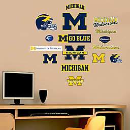 Fathead® University of Michigan Wolverines Assortment Logo Wall Graphic