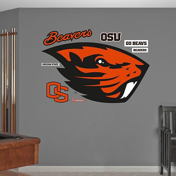 Alternate image 1 for Fathead® Oregon State University Logo Wall Graphic