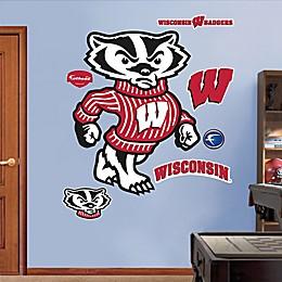 Fathead® University of Wisconsin Bucky Badger Mascot Wall Graphic