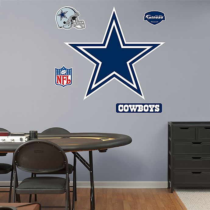 Alternate image 1 for Fathead® NFL Dallas Cowboys Logo Wall Graphic