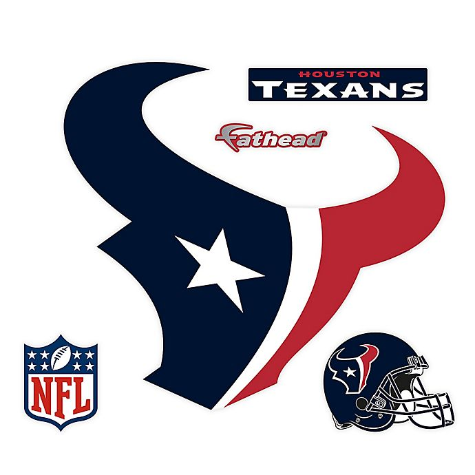 Alternate image 1 for Fathead® NFL Houston Texans Logo Wall Graphic