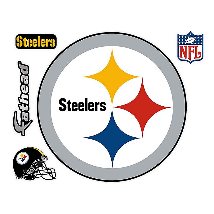 Alternate image 1 for Fathead® NFL Pittsburgh Steelers Logo Wall Graphic