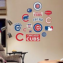 Fathead® MLB Chicago Cubs Logo Sheet Junior Wall Graphic