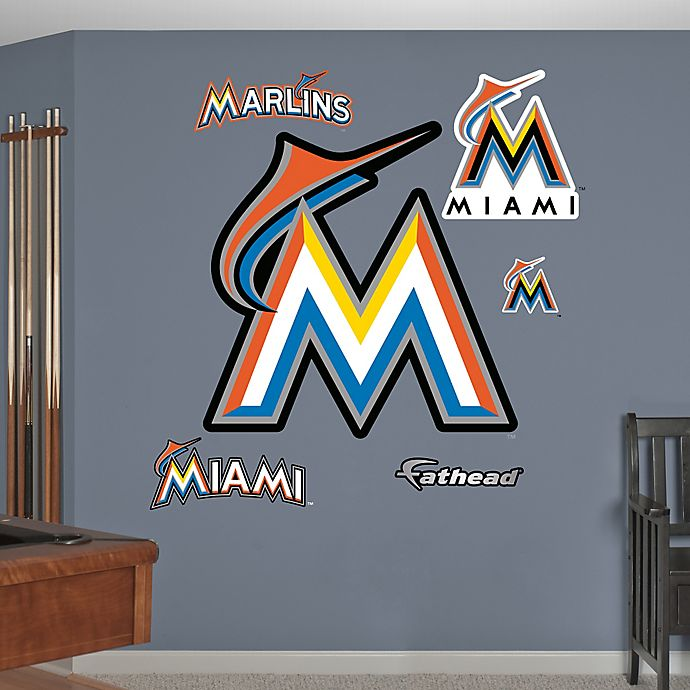 Alternate image 1 for Fathead® MLB Miami Marlins Logo Wall Graphic