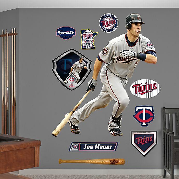 Alternate image 1 for Fathead® MLB Minnesota Twins Joe Mauer Away Wall Graphic