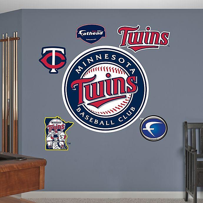 Alternate image 1 for Fathead® MLB Minnesota Twins Logo Wall Graphic