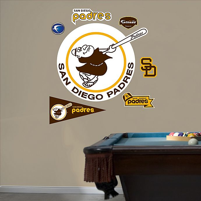 Alternate image 1 for Fathead® MLB San Diego Padres Classic Logo Wall Graphic