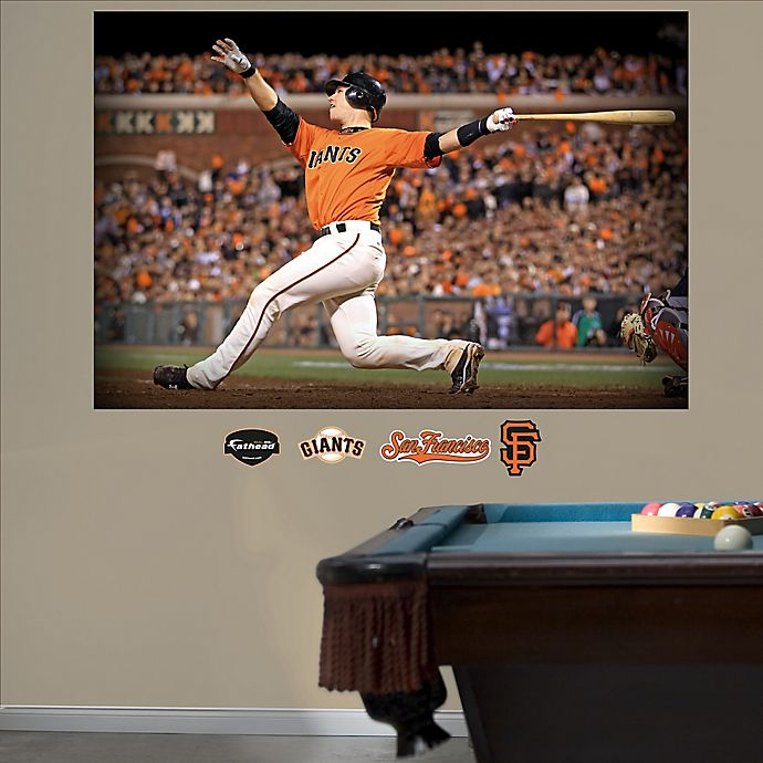 Alternate image 1 for Fathead® MLB San Francisco Giants Buster Posey Mural Wall Graphic