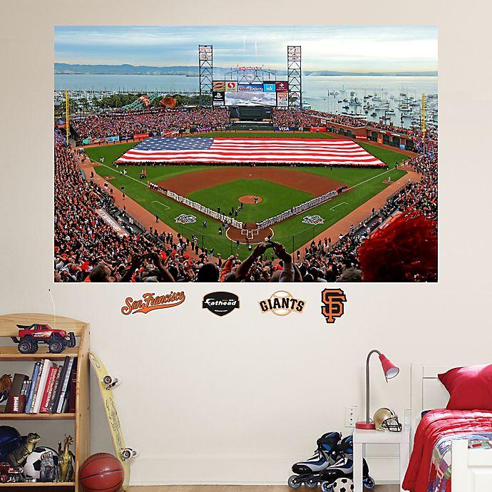 Alternate image 1 for Fathead® MLB San Francisco Giants Flag Stadium Mural Wall Graphic