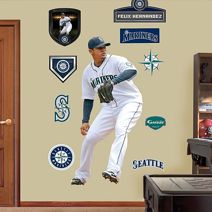 Alternate image 1 for Fathead® MLB Seattle Mariners Felix Hernandez Home Wall Graphic