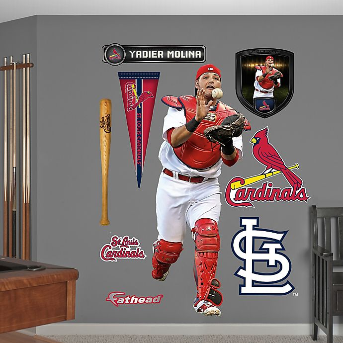 Alternate image 1 for Fathead® MLB St. Louis Cardinals Yadier Molina Wall Graphic