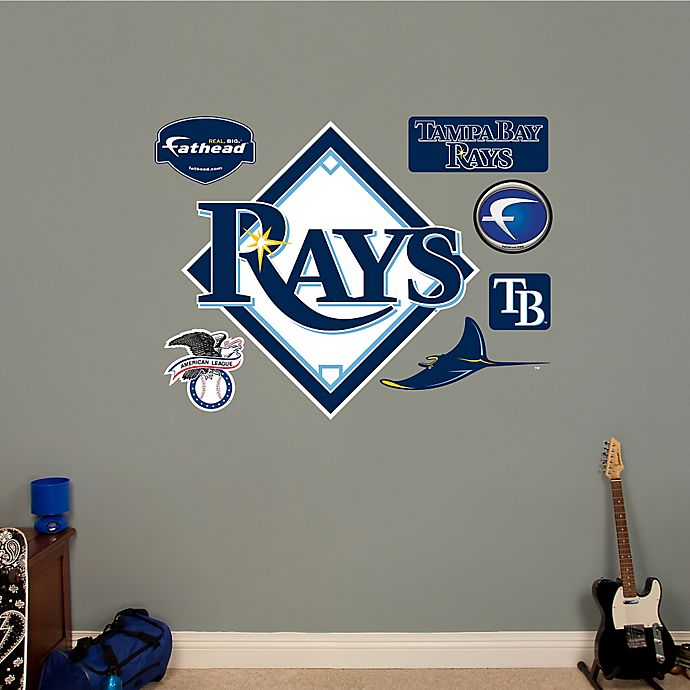 Alternate image 1 for Fathead® MLB Tampa Bay Rays Logo Wall Graphic