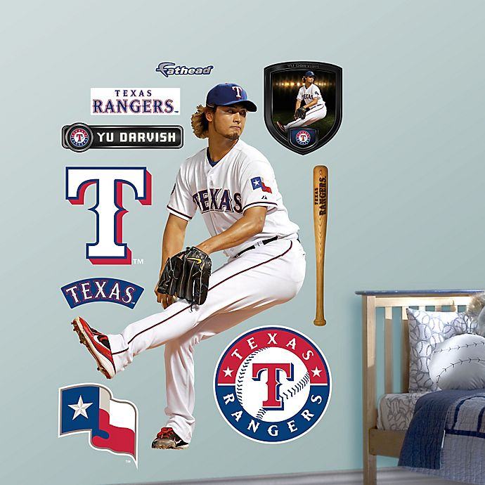 Alternate image 1 for Fathead® MLB Texas Rangers Yu Darvish Home Wall Graphic