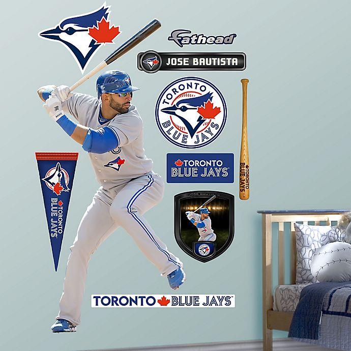 Alternate image 1 for Fathead® MLB Toronto Blue Jays Jose Bautista Away Wall Graphic
