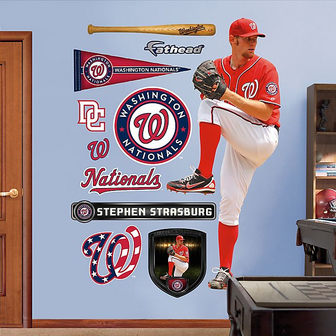 Alternate image 1 for Fathead® MLB Washington Nationals Stephen Strasburg Alternate Wall Graphic