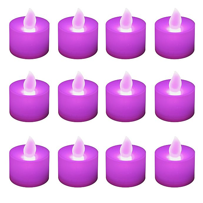 Alternate image 1 for LED Battery Operated Tealight Candles (12 Count)