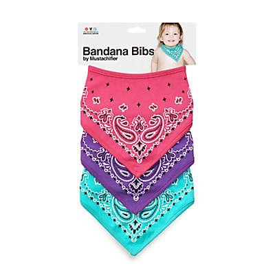 Mustachifier™ Bandana Bibs in Pink/Purple/Mint (Set of 3)