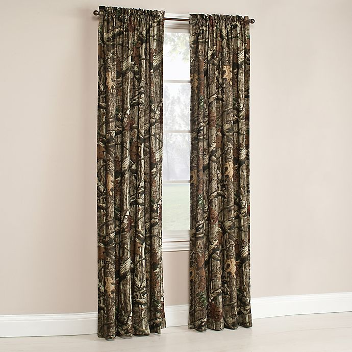 Mossy Oak Break Up Infinity Window Curtain Panel And Valance Bed