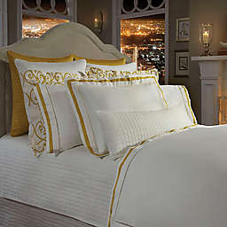 Downtown Company Chelsea Duvet Cover in Ivory/Nappel Gold