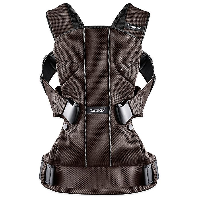 Alternate image 1 for BABYBJORN® Baby Carrier One in Brown/Black Mesh