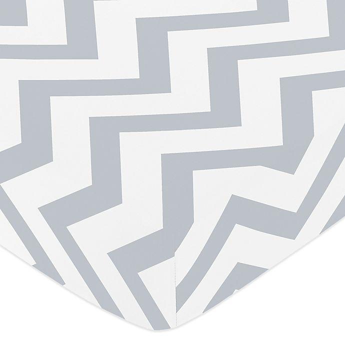 Sweet Jojo Designs Chevron Fitted Crib Sheet In Grey White Buybuy Baby