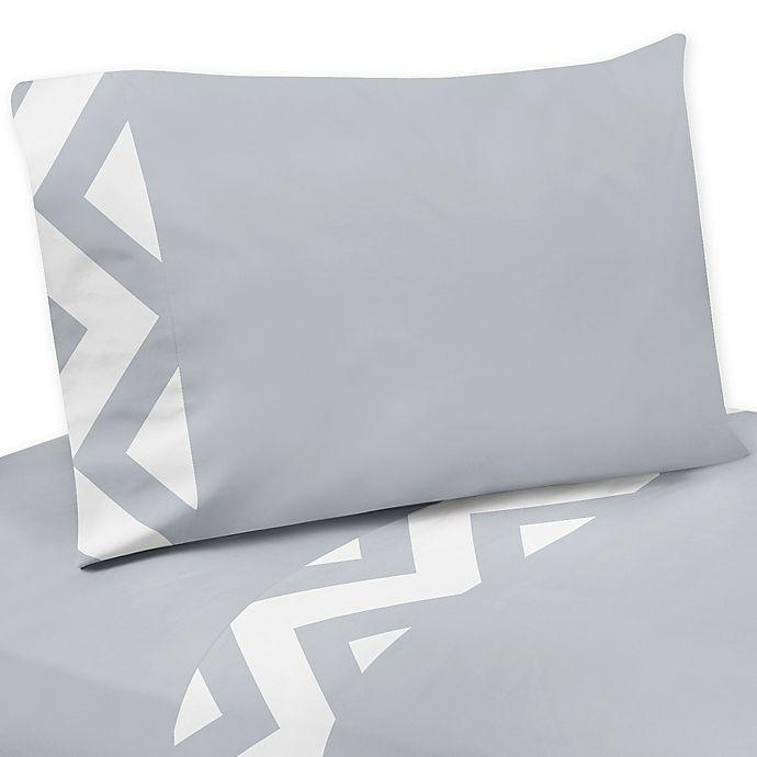 Sweet Jojo Designs Chevron Sheet Set In Grey And White Bed Bath Beyond