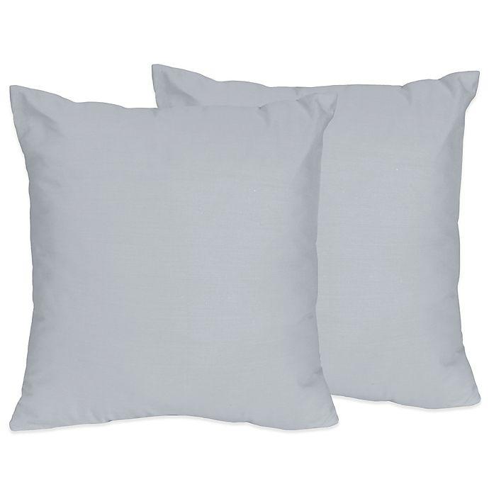 Alternate image 1 for Sweet Jojo Designs Chevron Throw Pillows in Grey (Set of 2)