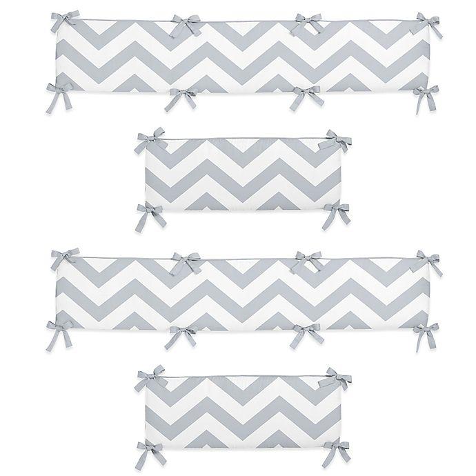 Sweet Jojo Designs Chevron Crib Bumper In Grey White Buybuy Baby