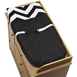 Sweet Jojo Designs® Chevron Changing Pad Cover in Black/White