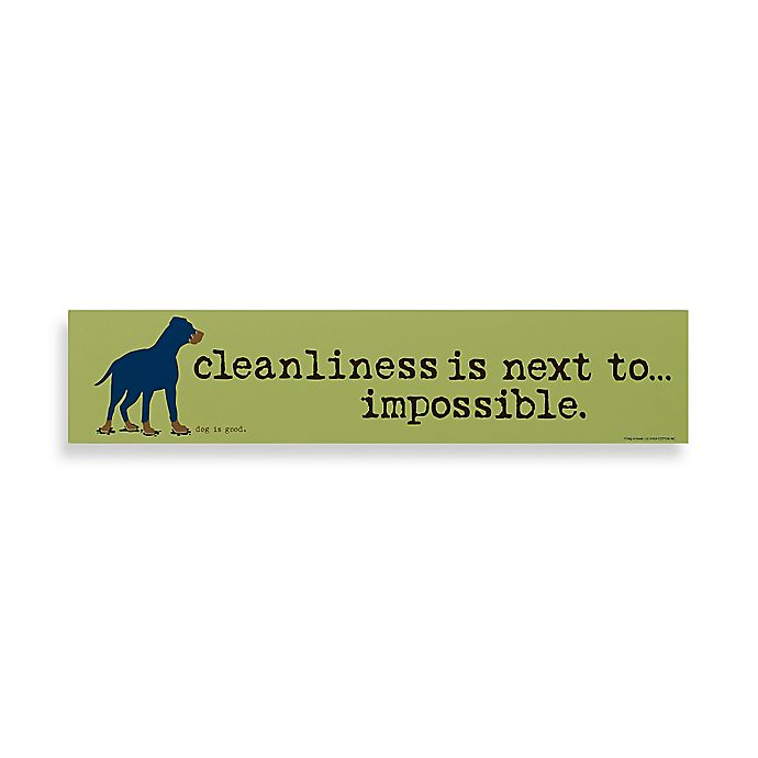 Alternate image 1 for Cleanliness is Next to Impossible Decorative Sign