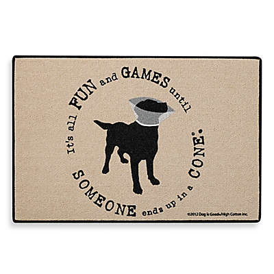 """Fun and Games"" Dog Door Mat"