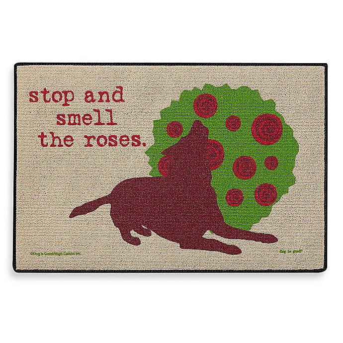 Alternate image 1 for Stop and Smell the Roses Door Mat