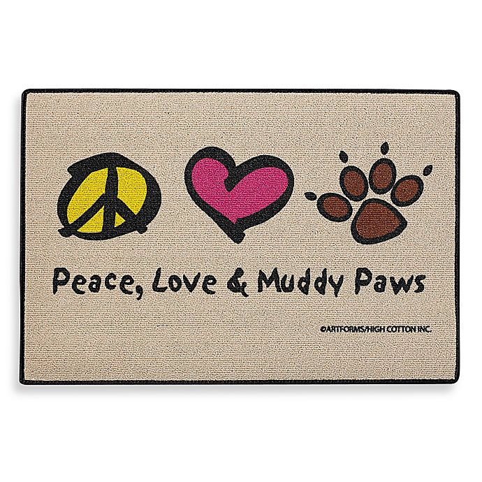 Peace Love Amp Muddy Paws Door Mat Bed Bath And Beyond Canada
