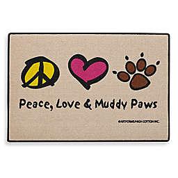 Peace, Love & Muddy Paws Door Mat