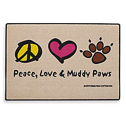 Peace, Love & Muddy Paws Door Mat