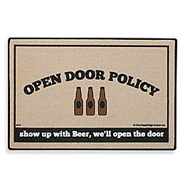 Open Door Policy Beer Door Mat