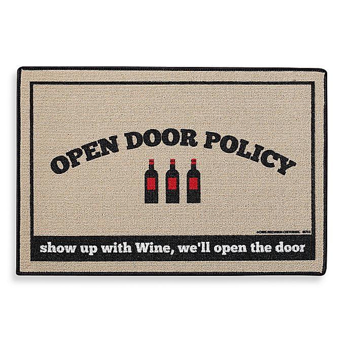Alternate image 1 for Open Door Policy Door Mat