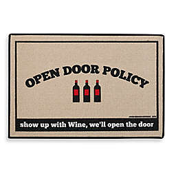 Open Door Policy Door Mat