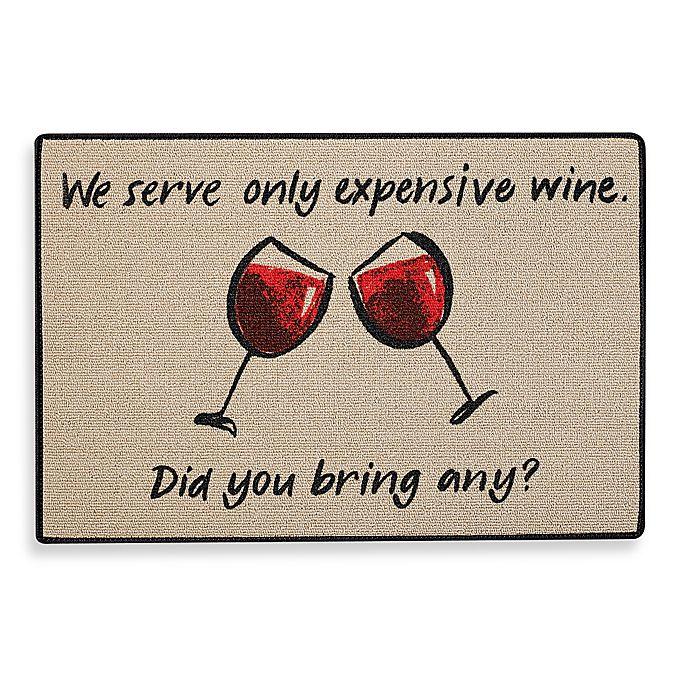 Alternate image 1 for Expensive Wine Door Mat