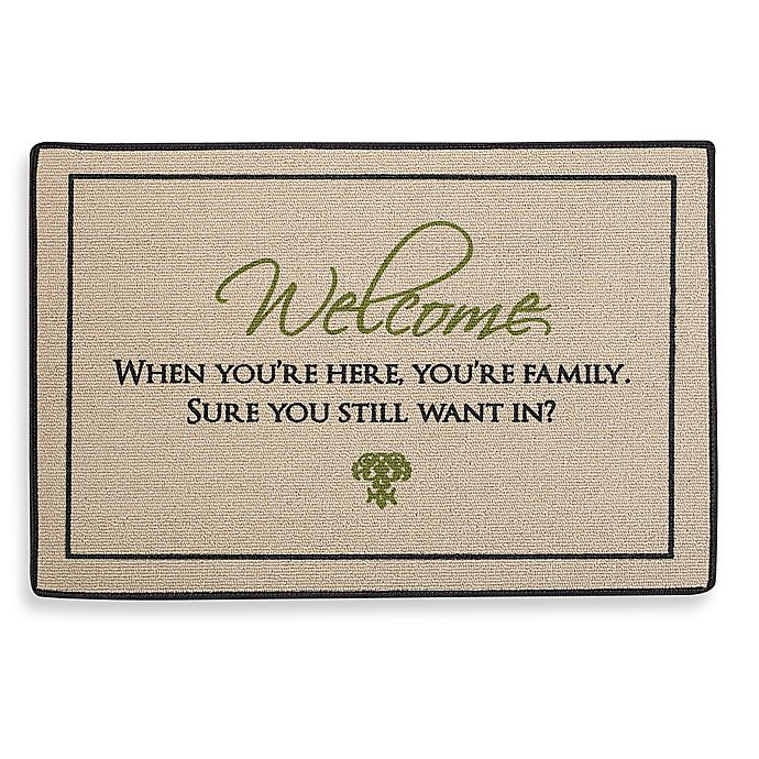 Alternate image 1 for When You're Here You're Family Door Mat