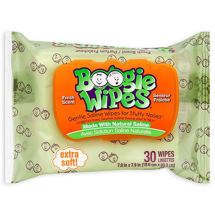 Alternate image 1 for Boogie Wipes® 30-Count Saline Wipes in Fresh Scent