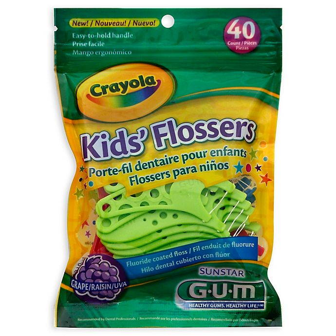 Alternate image 1 for GUM® Crayola™ 40-Count Kids' Flossers