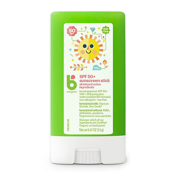 Alternate image 1 for Babyganics® 0.47 oz. 50+ SPF Pure Mineral Sunscreen Stick
