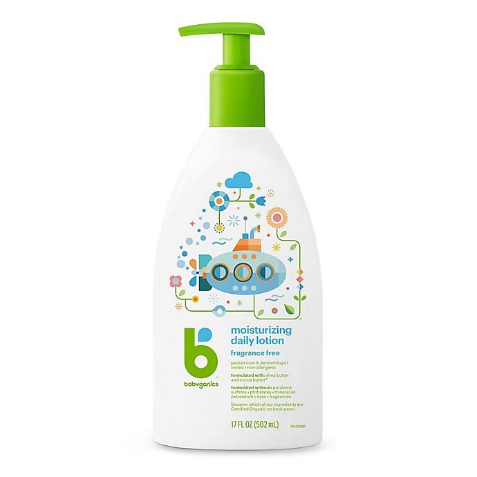 Alternate image 1 for Babyganics® 17 oz. Fragrance-Free Moisturizing Daily Lotion