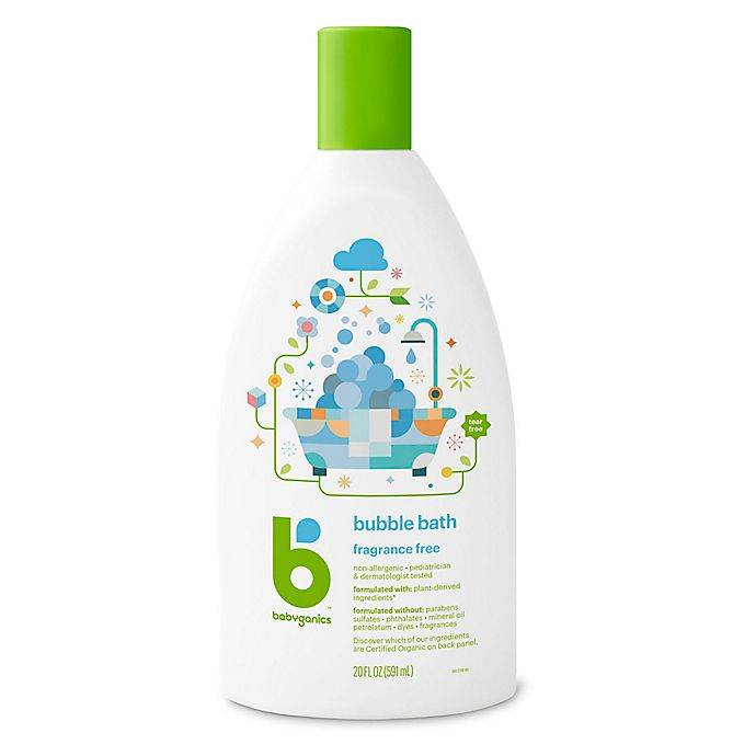 Alternate image 1 for Babyganics® 20 oz. Fragrance-Free Bubble Bath