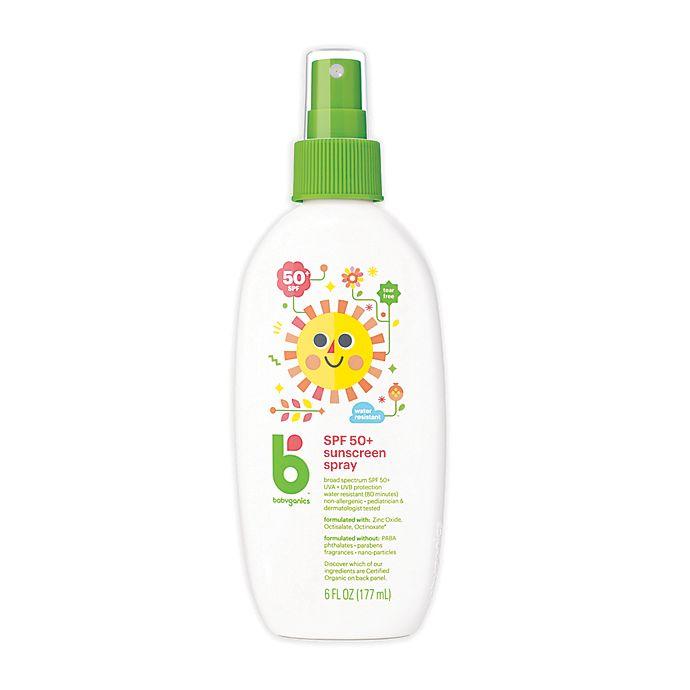 Alternate image 1 for Babyganics® 6 oz. 50+SPF Mineral-Based Sunscreen Spray