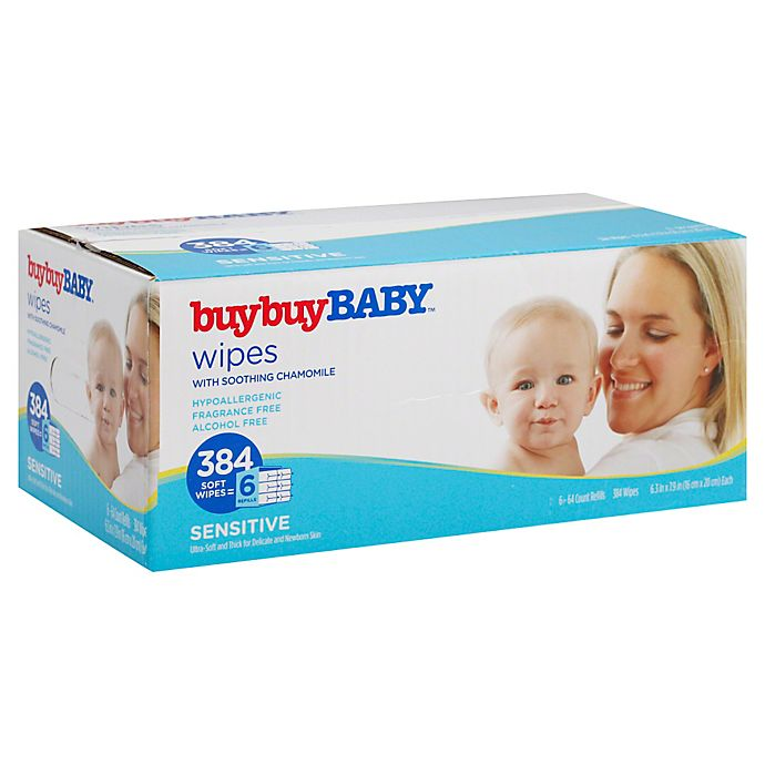 Alternate image 1 for buybuy BABY™ 384-Count Sensitive Wipes with Soothing Chamomile