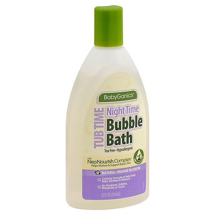 Alternate image 1 for Babyganics® 12 oz. Night Time Bubble Bath in Orange Blossom