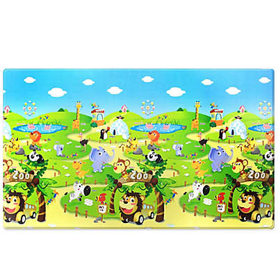 Dwinguler Large Kid's Playmat in Zoo