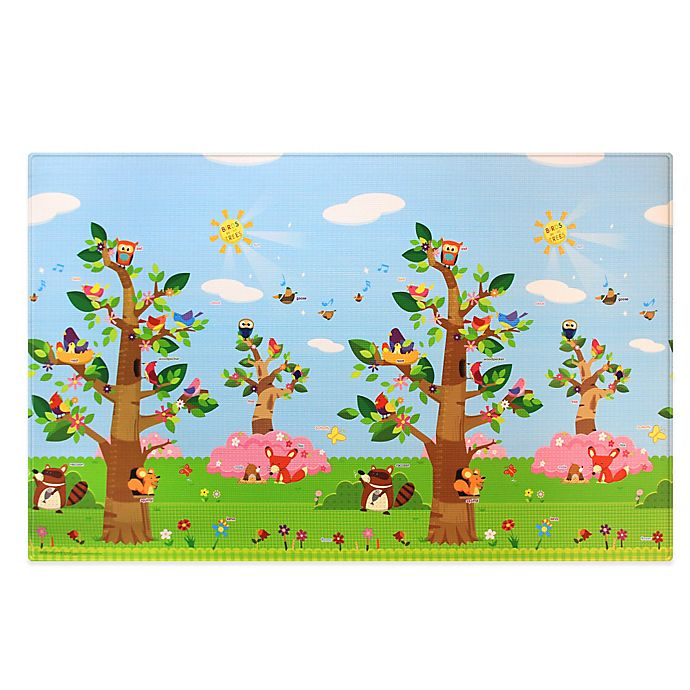 Alternate image 1 for BABY CARE™ Large Baby Play Mat in Birds in Trees